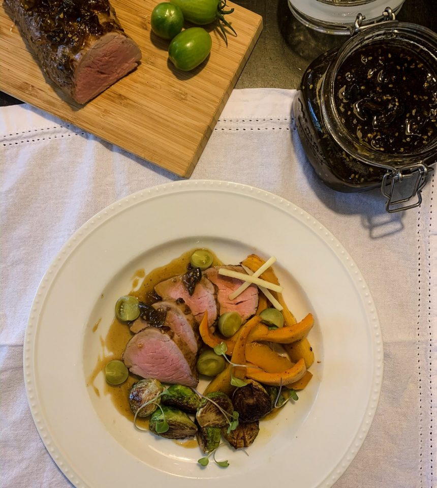 Edible Boston | Green Tomato Glazed Pork Tenderloin