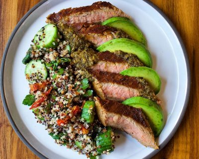 Chimichurri Flank Steak + Salad