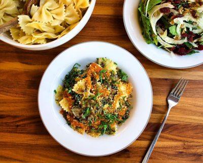 Mushroom + Kale Farfalle