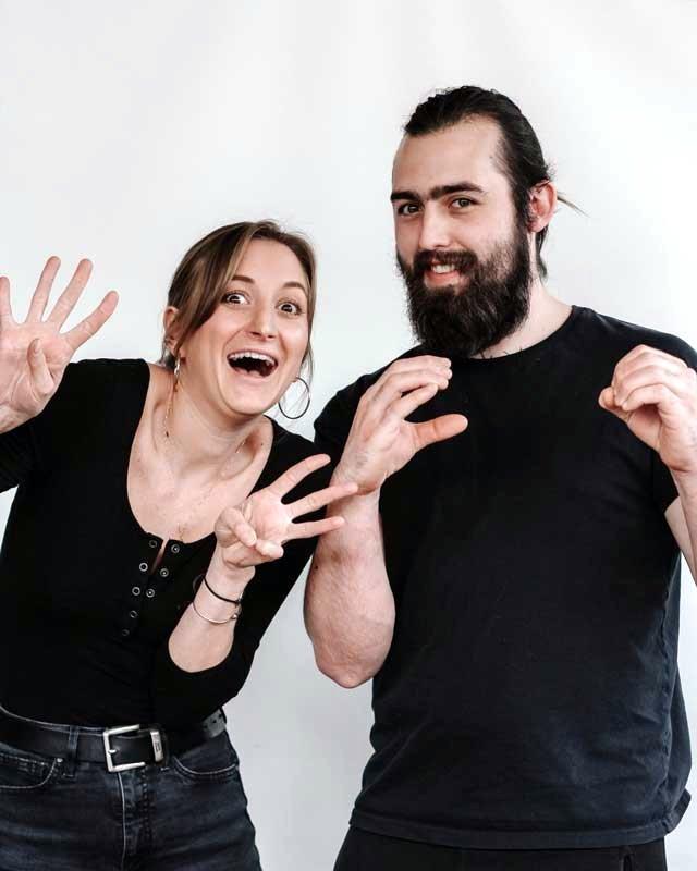 Rachel Amiralian and Gavin Lambert